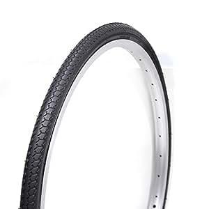 COMPASS コンパス 自転車タイヤ P1013 27×1 3/8 WO 27インチ ブラック 1ペア(タイヤ2本、チューブ(英式)2本、リムゴム2本) 1台分