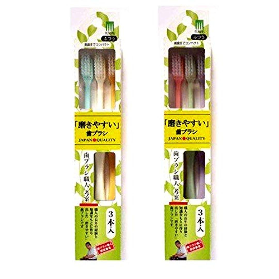 後方に雨のブラジャー磨きやすい歯ブラシ (先細毛) 奥までコンパクト3本組 ELT-1 (色選択不可)