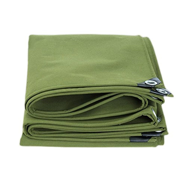 ソフトウェアうそつき本土12J-weihuiwangluo 屋外テントターポリン厚いキャンバストラック防水ターポリン屋外寒い日陰防風防塵耐摩耗性抗腐食シリコーン布 (Color : 緑, サイズ : 5×6m)
