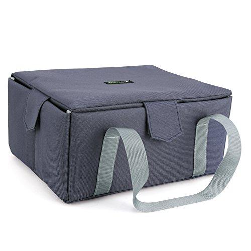 Evecase カメラインナーバッグ 一眼レフ カメラケース インナーボックス ソフトクッション グレー