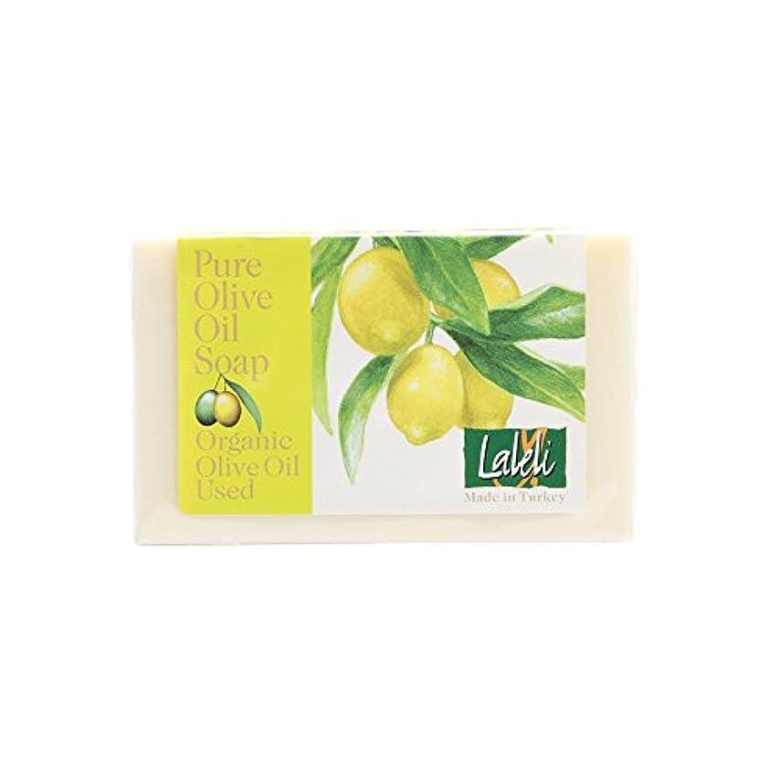 バンジージャンプシュガー後方にラーレリ オーガニックオリーブオイルソープ レモン 120g