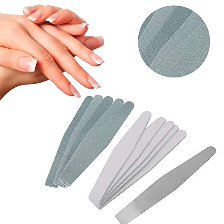 電報平均国歌ネイルアート 緩衝ファイル 磨く釘の芸術のための取り替え可能なステンレス鋼の釘砂棒(01)