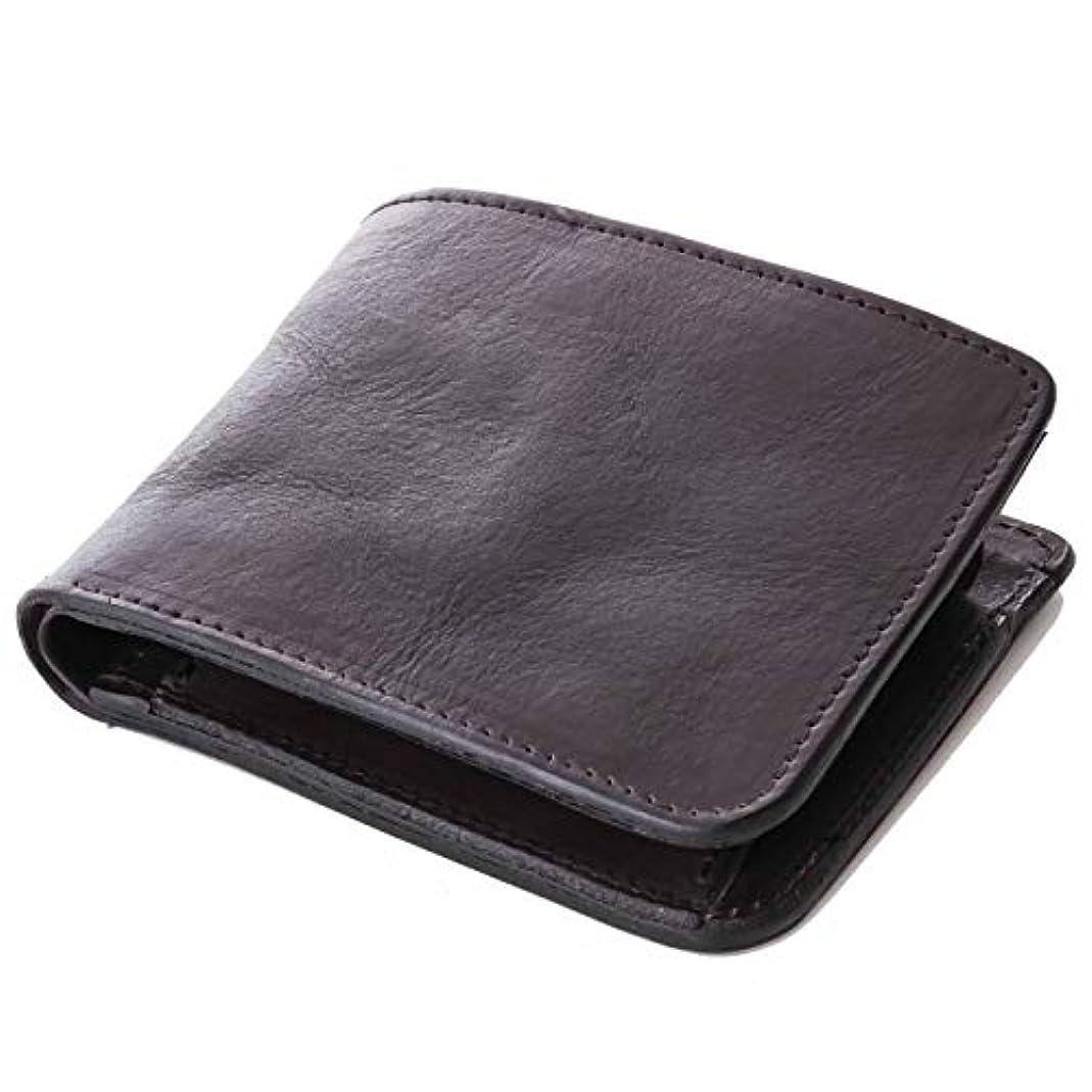 納税者デモンストレーションコア[ダブルウッドジャパン] 財布 二つ折り 本革 日本製 革の質感が伝わる仕上げ「abba Short」