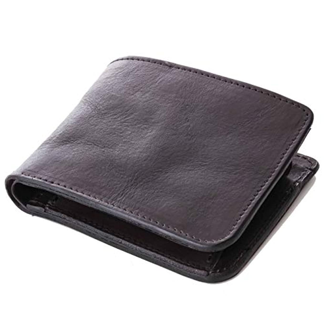 革命びっくりする侵略[ダブルウッドジャパン] 財布 二つ折り 本革 日本製 革の質感が伝わる仕上げ「abba Short」