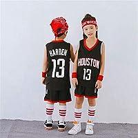 NBAファンジャージ、ヒューストンロケッツハーデン13#バスケットボールジャージスポーツユニフォームセットキッズスーツ,black,2XL-160-165cm