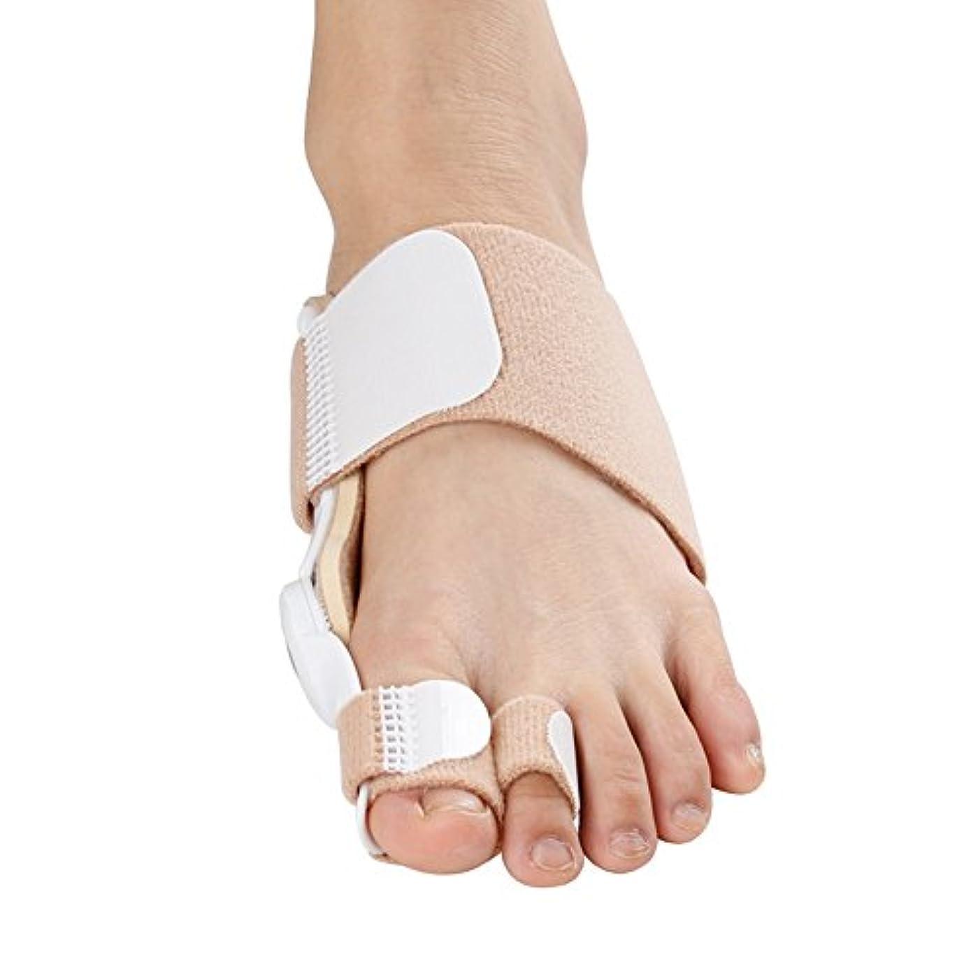 大腿ハンマー曲がった1組のつま先の分離帯の坐骨矯正装置最新の強化された外反母趾矯正整形つま先痛み足のケア