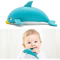 Longfite お風呂 おもちゃ 歯がため 安全素材 イルカ 噴水動物 子供 幼児 水遊び 3ヶ月から対象