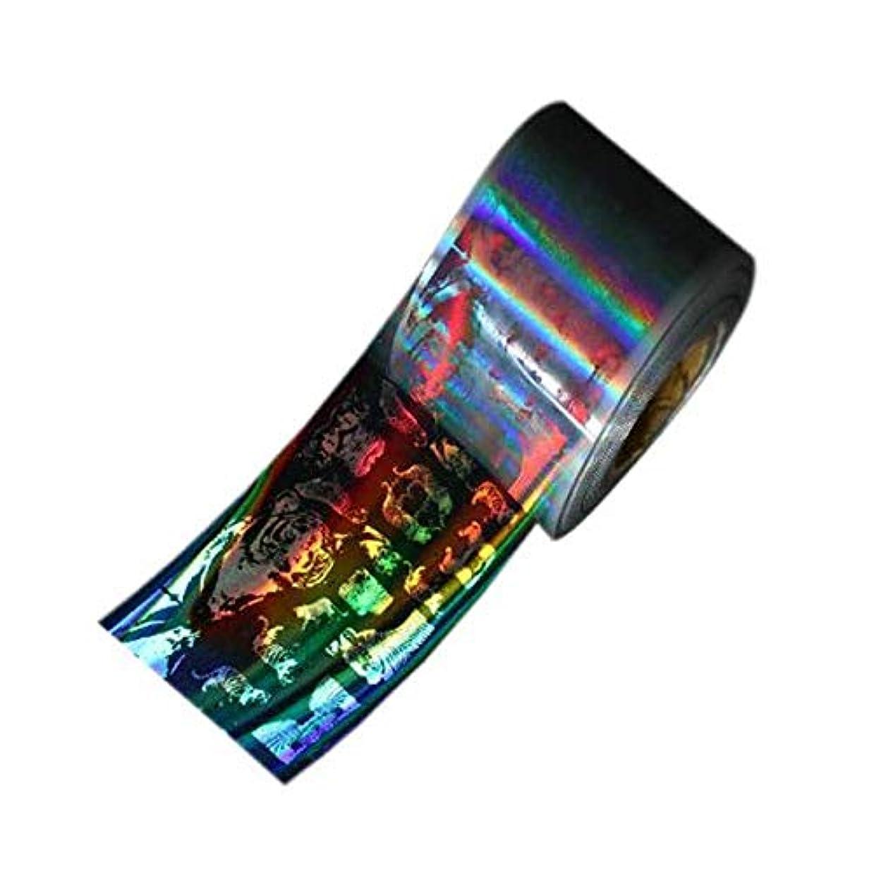 熱心酸アーネストシャクルトンSUKTI&XIAO ネイルステッカー 4Cm * 100M 1ロールネイルフォイルレーザーホログラフィックブラックフラワーネイルフィルムフルカバーネイルステッカー転写フォイルデカール、赤