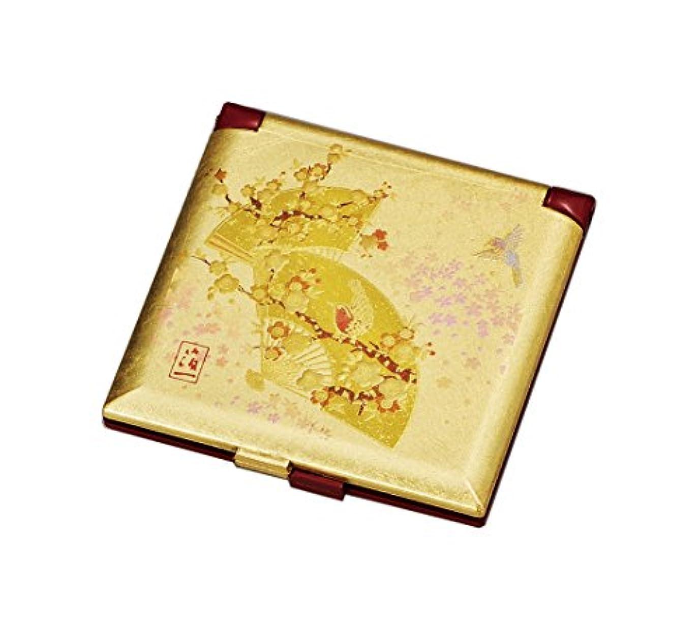 テンポ無効気分が悪い箔一 ミラー ゴールド 70×70×5mm うららか ミニコンパクトミラー A125-02006