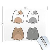 かわいい猫 マウスパッド 滑り止めゴム製裏面 おしゃれ 厚くした 事務用のマウスパッド 携帯用 25X19CM