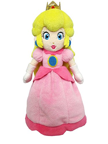 Super Mario ALL STAR COLLECTION peach (S) stuffed animals sitting height 16 cm