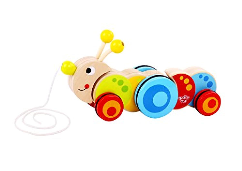 Tooky Toys tkc419 Wooden Pull Along Caterpillar