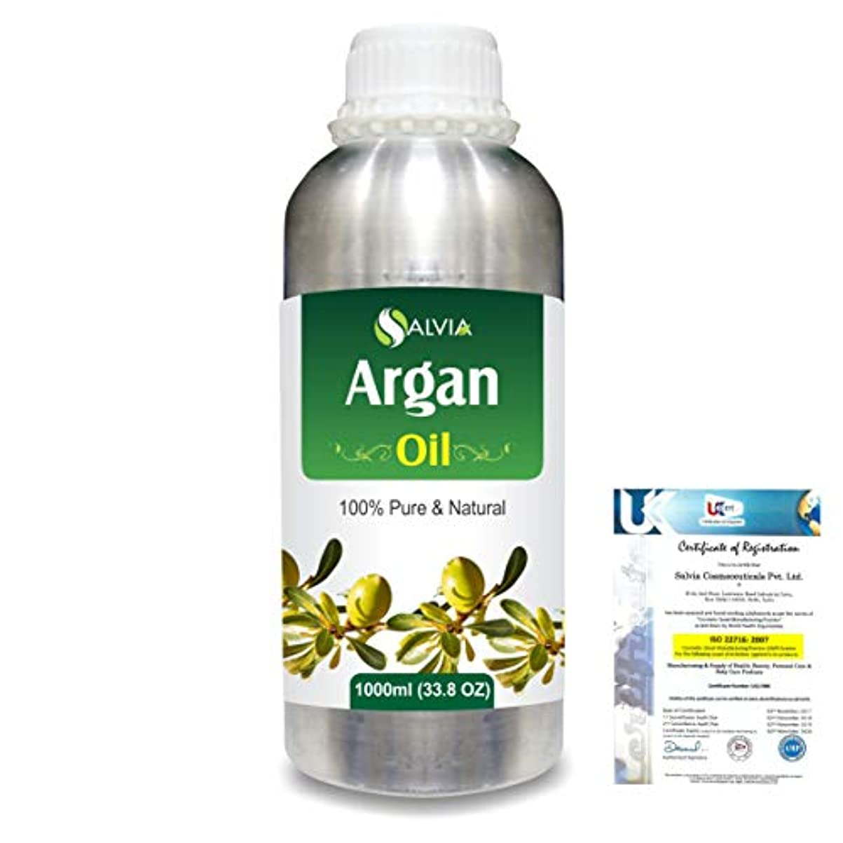 輝くアラブ人賠償Argan (Argania spinosa) 100% Natural Pure Essential Oil 1000ml/33.8fl.oz.