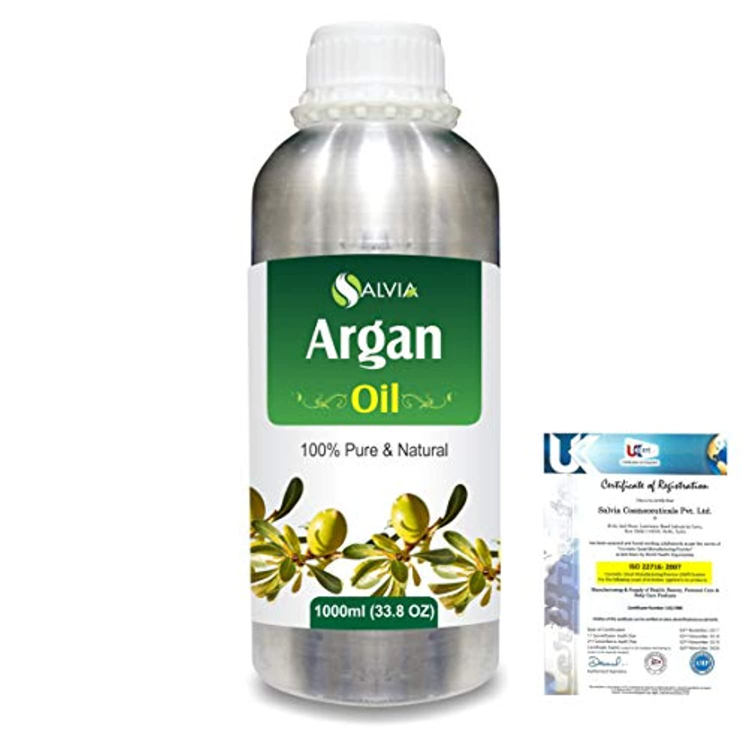 偉業メアリアンジョーンズ偶然Argan (Argania spinosa) 100% Natural Pure Essential Oil 1000ml/33.8fl.oz.