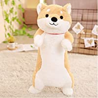 yousyu ハスキー犬のぬいぐるみ 可愛い犬抱き枕 ドッグおもちゃ dog 贈り物 ギフト (ライトブラウン, 60cm)