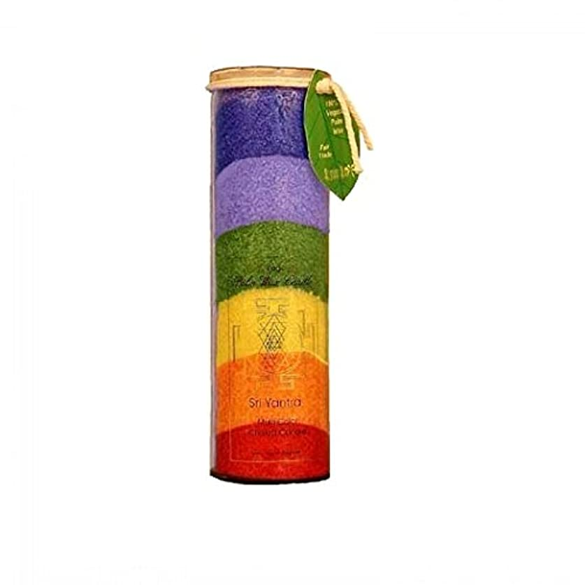 つぶやき警戒バンガロー海外直送品Candle Chakra Jar, Unscented 7 Color, 16 Oz by Aloha Bay