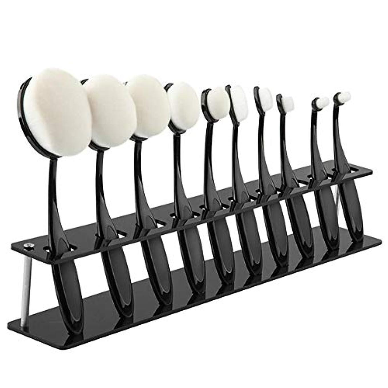 かみそりおなじみのボックス化粧ブラシ 10歯ブラシホルダー配置ブラケット プラスチック+金属