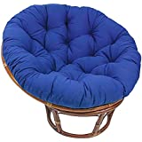 Hammock Papasan Chair Cushion Cotton Round Solid Color Cradle Hanging Swing Chair Pads for Indoor Garden D5/26 (Color : Blue)