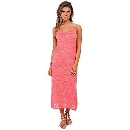 (スリードッツ) Three Dots レディース ドレス パーティドレス Slub Jersey Midi Dress w/ Side Slits And V-Back 並行輸入品