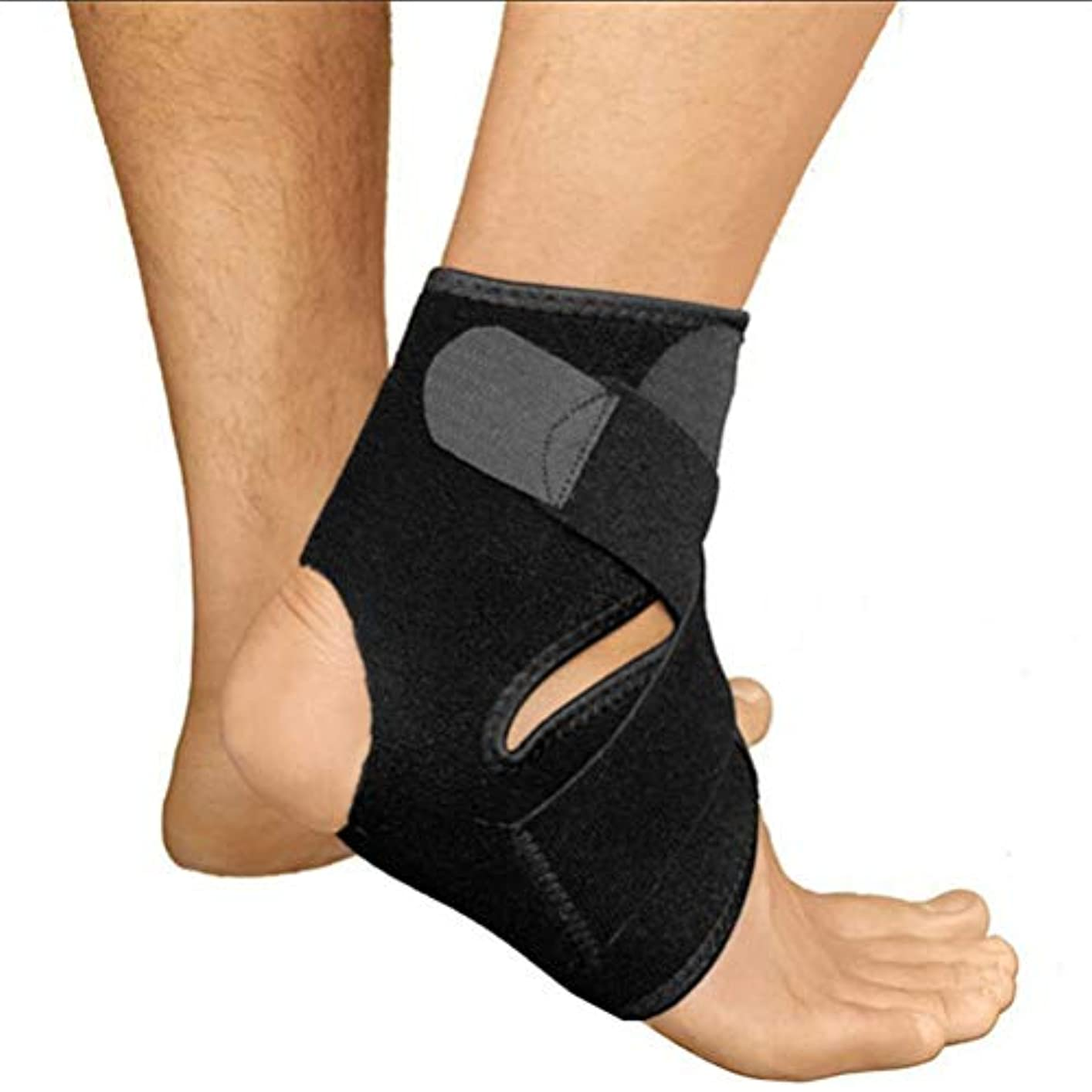 忠実ご飯祈るFlybloom 黒の調整可能なアンチ捻rainフットストラップ洗える圧縮足首プロテクター通気性の足首ブレースサポートストラップ包帯ラップ足の安全性