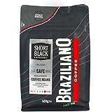 Braziliano Short Black Espresso Coffee Beans, 500 g