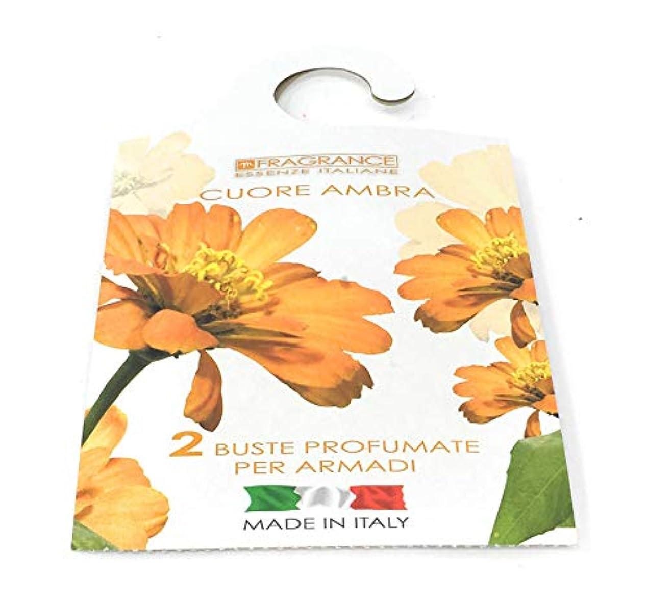 機械的に導体暗記するMERCURY ITALY 吊り下げるサシェ(香り袋) FIOREALE イタリア製 (アンバーハート)