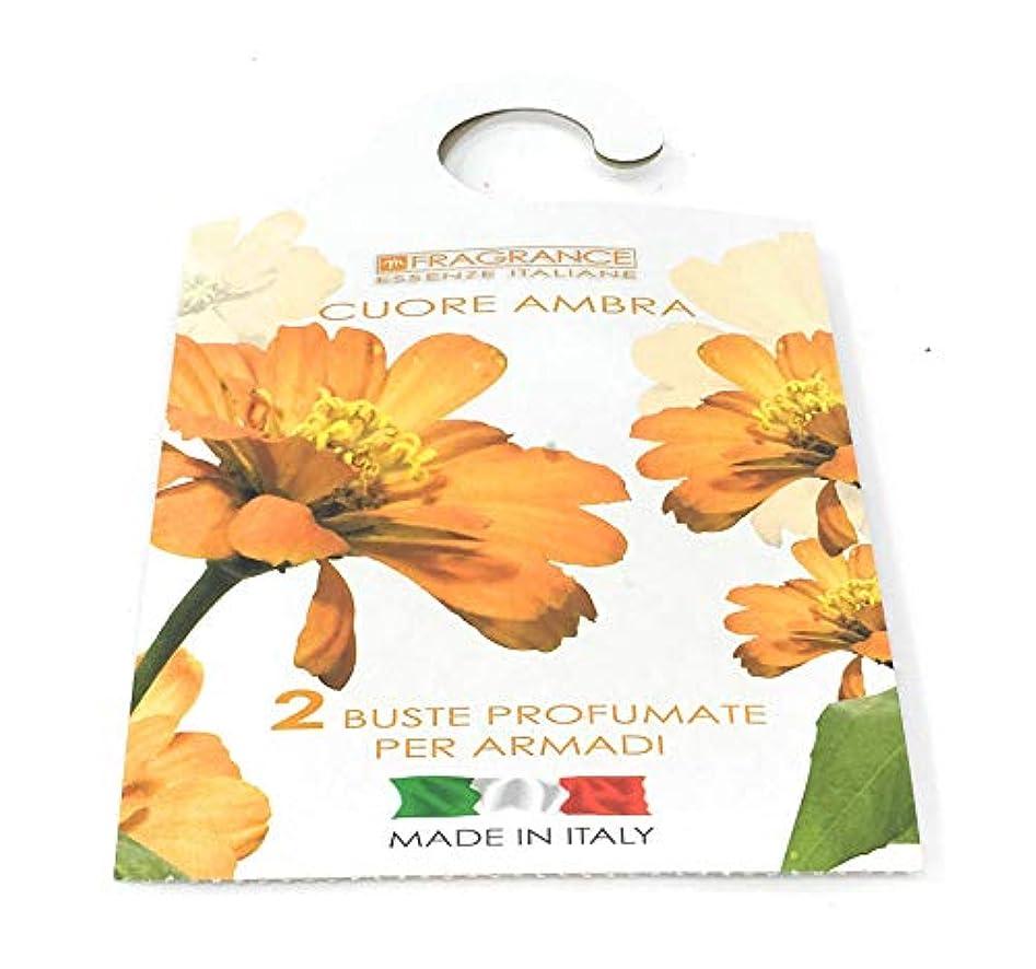まだらしたい全体MERCURY ITALY 吊り下げるサシェ(香り袋) FIOREALE イタリア製 (アンバーハート)