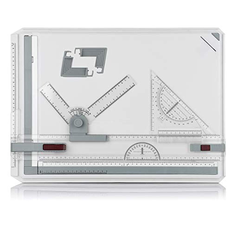 Mr Quality a3サイズ製図板 製図板a3 ドラフター ドラフター a3 定規付 図面 建築 デザイン イラスト 卓上製図板 傾斜可能 両端紙クランプ付 定規スキンパッケージ 新包装 (a3サイズ製図板)