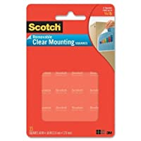 3M859Scotch Removable Mounting Squares-35PK CLR MOUNTING SQUARE (並行輸入品)