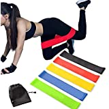 Exercise Resistance Bands | Set of 1 Resistance Loops Include 5 Bands - Extra Heavy Resistance | 12 Inch Work Out Bands and Instruction Guide | Perfect for Gym, Fitness, Yoga