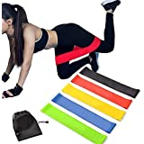 Exercise Resistance Bands   Set of 1 Resistance Loops Include 5 Bands - Extra Heavy Resistance   12 Inch Work Out Bands and I