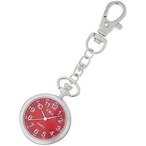 [フィールドワーク]Fieldwork 懐中時計 キーチェーンウォッチ アナログ表示 レッド DT111-4