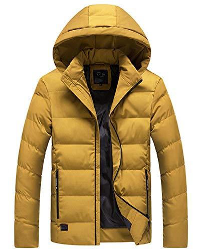 メンズ ダウンコート ダウンジャケット 中綿ダウン 秋冬コート 分厚い アウターコートフード着脱可 暖かい ...