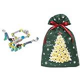 ころがスイッチ ドラえもん ジャンプキット + インディゴ クリスマス ラッピング袋 グリーティングバッグ3L クリスマスツリー ダークグリーン XG984