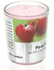 デリキャンドル ピーチ 35g(フルーツの香りのろうそく 燃焼時間約10時間)