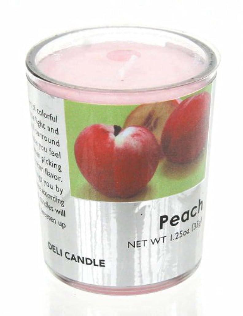 プラスチック維持する宣言するデリキャンドル ピーチ 35g(フルーツの香りのろうそく 燃焼時間約10時間)