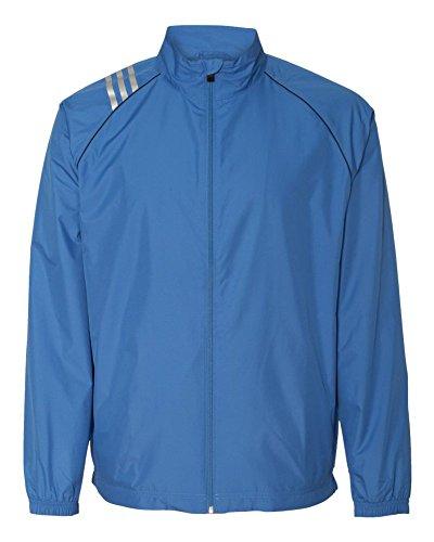 Adidas Golfメンズ3ストライプフルジップジャケット(a169) X-Large ブルー