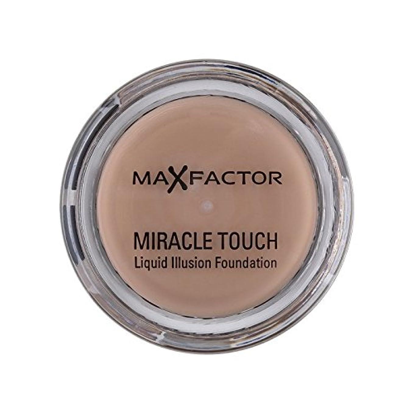 台風そこからではごきげんようマックスファクター奇跡のタッチ基盤暖かいアーモンド45 x4 - Max Factor Miracle Touch Foundation Warm Almond 45 (Pack of 4) [並行輸入品]