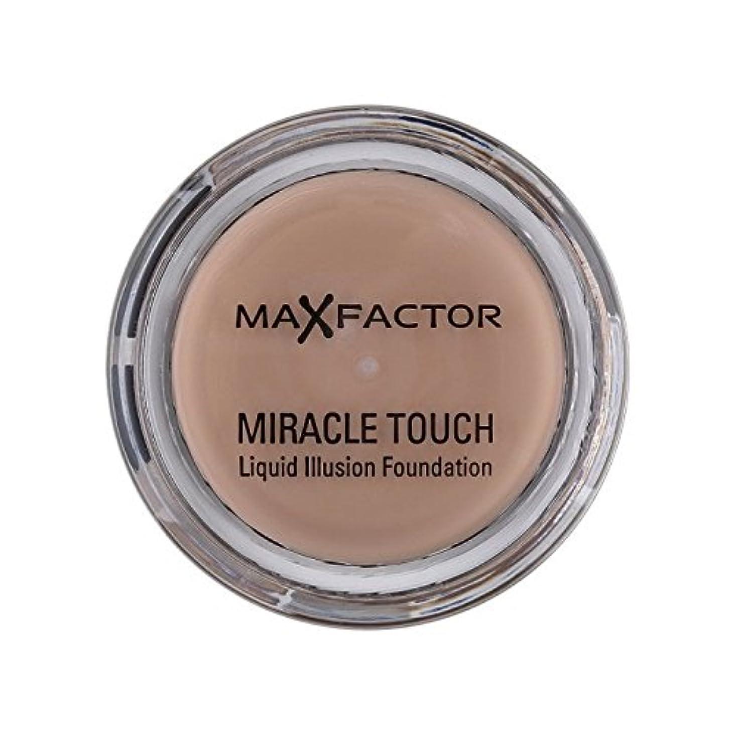 重量ペルソナネズミMax Factor Miracle Touch Foundation Warm Almond 45 (Pack of 6) - マックスファクター奇跡のタッチ基盤暖かいアーモンド45 x6 [並行輸入品]