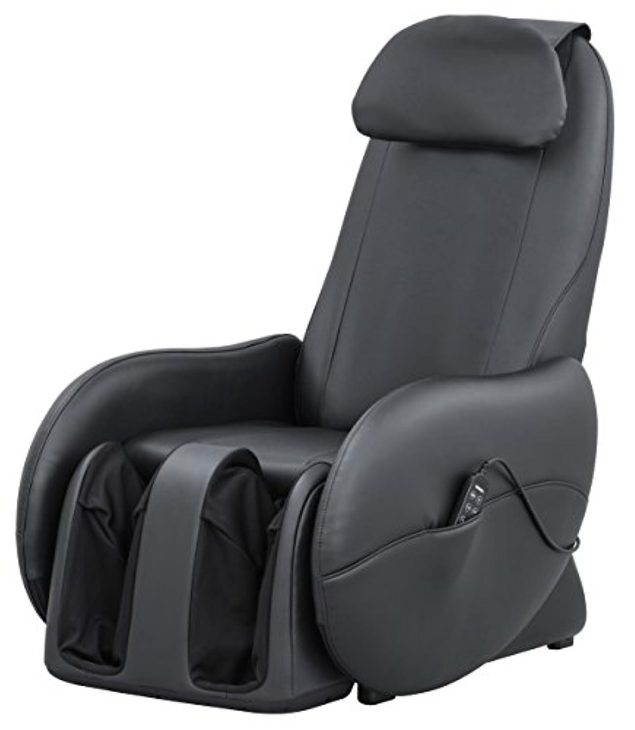 ワーカー提案する計算するスライヴ くつろぎ指定席Light マッサージチェア CHD-3700BK 正規品 ブラック おしゃれ コンパクト 小型