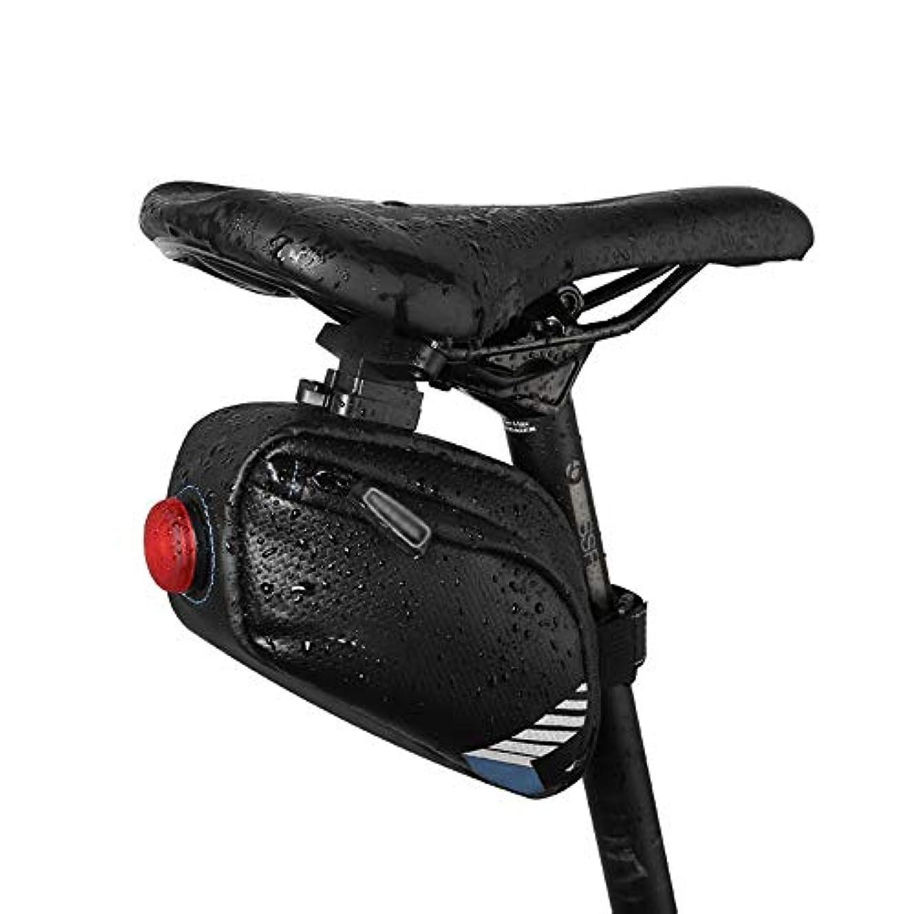 聖域郵便局ハシー自転車サドルバッグ アウトドアサイクリング用2色テールライトフック付きマウンテンバイクシートパックバッグ スポーツ自転車自転車収納バッグ (Color : Blue 1, Size : 18.5*5*10.5cm)