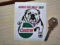 World Cup Rally 1970 Castrol Bulldog Sticker カストロール ステッカー シール デカール 海外限定 70mm x 85mm