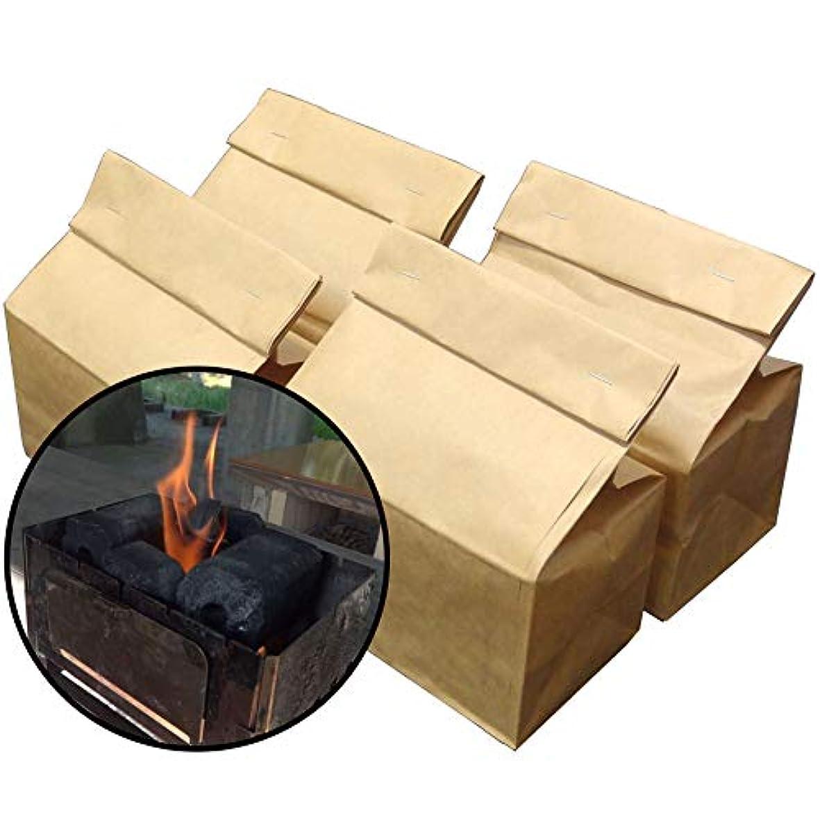 首尾一貫した相談遠いオガ炭パック産業 オガ備長炭簡単着火パック 0.4kg 4個入