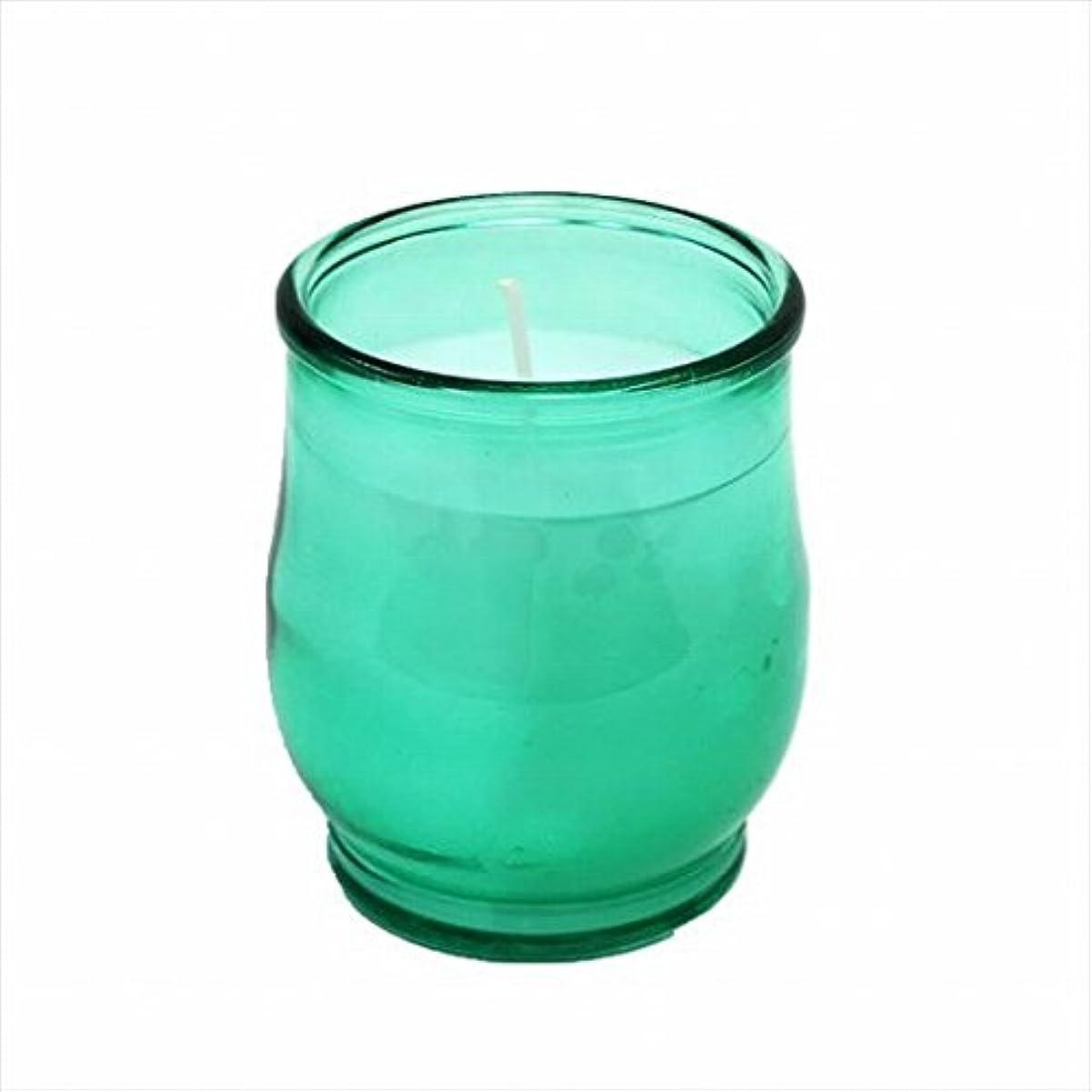 その噴出する雨カメヤマキャンドル(kameyama candle) ポシェ(非常用コップローソク) 「 グリーン(ライトカラー) 」
