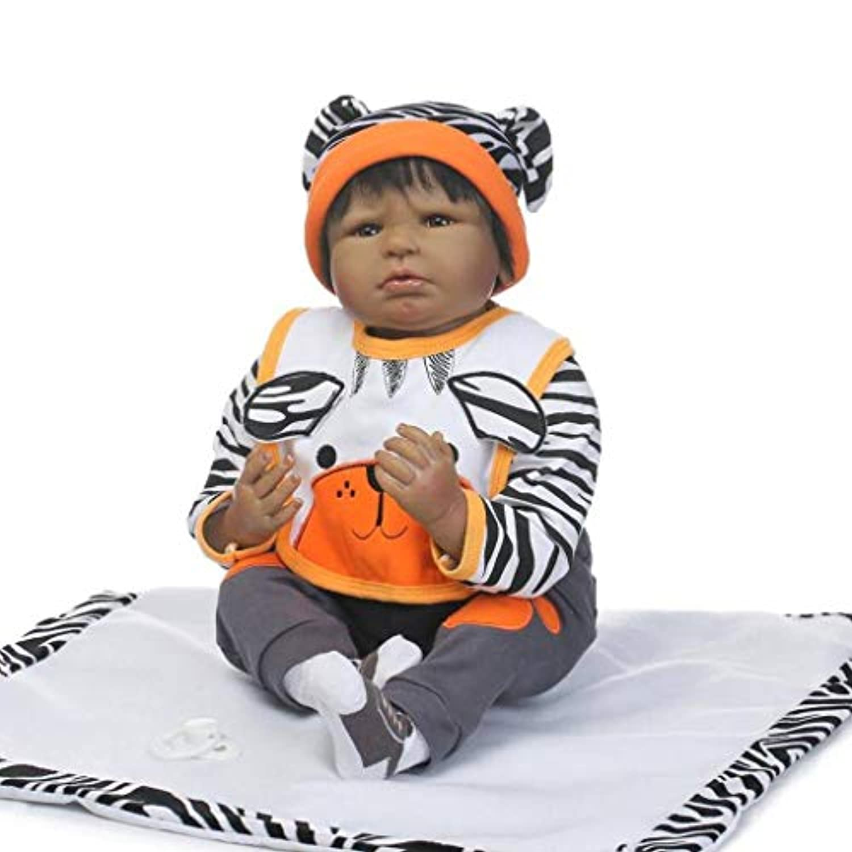 Terabithia 22インチブラックGentle Touch Alive Collectibleアフリカ系アメリカ人新生児赤ちゃん人形