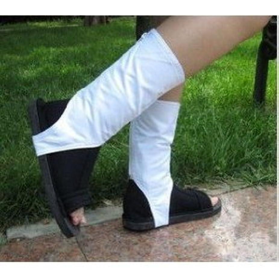 署名作成するについてコスプレ靴 NARUTO -ナルト-暁 忍者靴 コスチュームブーツ Lサイズ 25.5~26.5cm