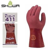 ショーワグローブ/SHOWA/ビニール手袋 ビニローブ411 [10双入]/品番:No.411 サイズ:M