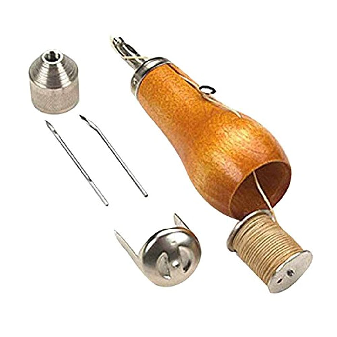 スチュアート島数変色するレザークラフト レザーツール スピーディーステッチャー 手縫機 レザークラフト用 革縫い針セット ASOSMOS 裁縫キット 革用ミシン針 革工具 レザークラフ 片手で縫え 糸通し器