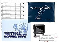 Notary Public Value Package ジャーナル スタンプ ネイビー サプライバッグ コネチカット