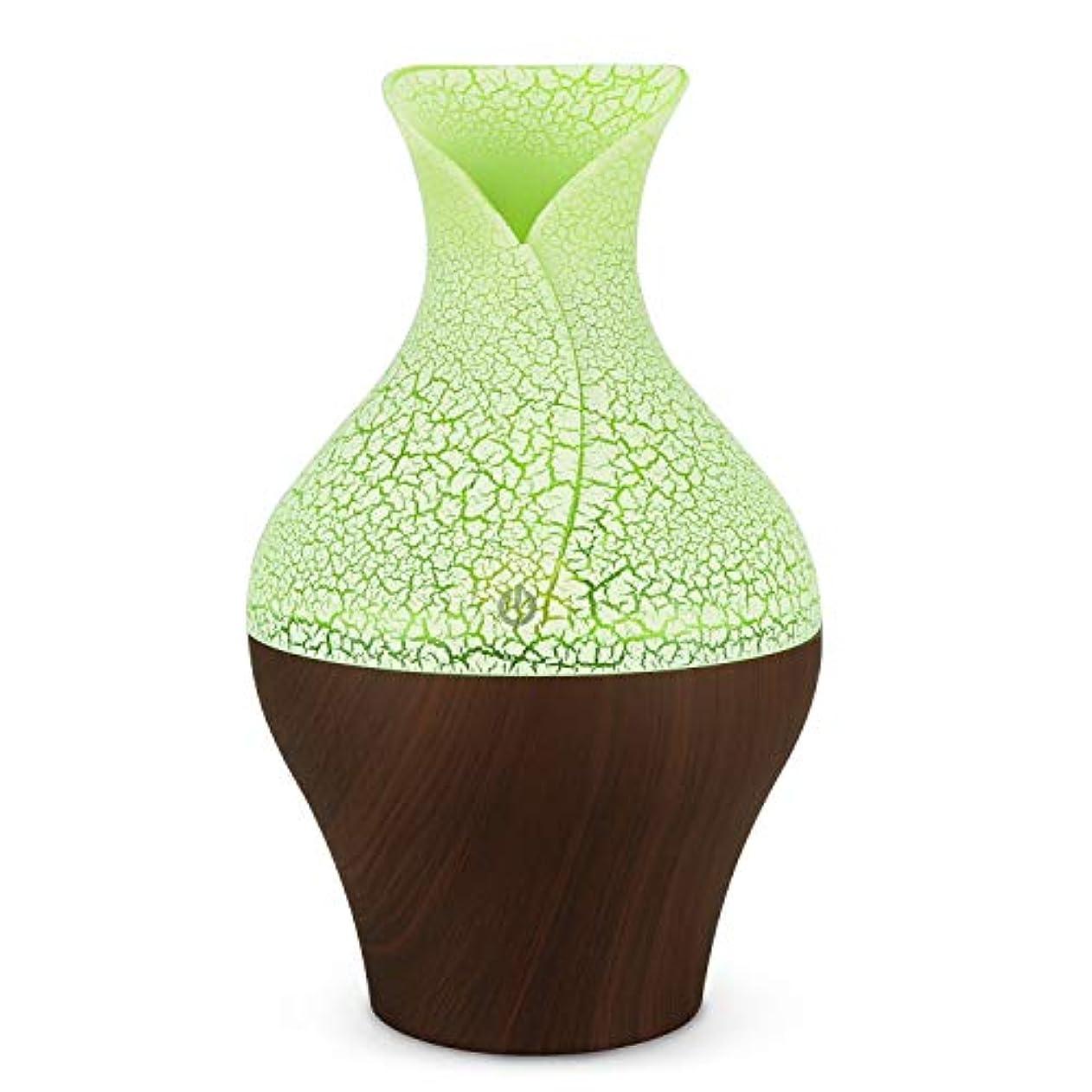 広々毎週セクションミスト加湿器については内務省のベッドルームベビールームの使用をクール250mlのエッセンシャルオイルディフューザー花瓶字型 (Color : Deep wood grain, Size : 10×17.4)